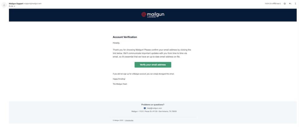 วิธีการสมัคร Mailgun